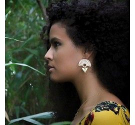 Boucles d'oreilles Nile dorées à l'or fin