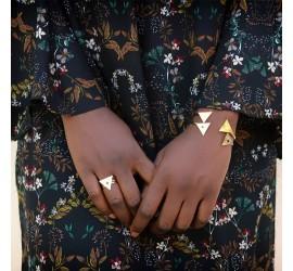Bracelet Nubia doré à l'or fin