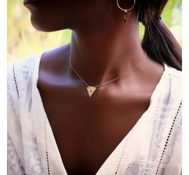 Collier Nubia doré à l'or fin