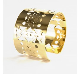 Bracelet Manchette Abraxas Yucatan doré à l'or fin