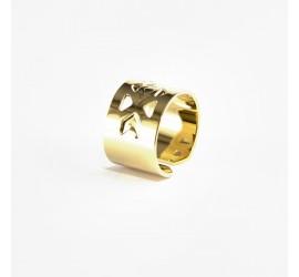 Bague Abraxas Yucatan dorée à l'or fin