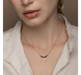 Collier pendentif semi-précieux artisanal RÂ