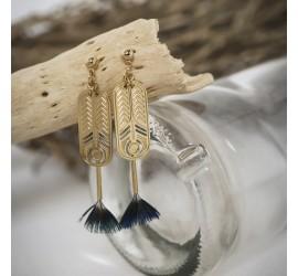 Boucles d'oreilles plume BO3 TALISMAN