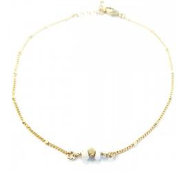 Chaîne de cheville perles