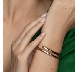 Bracelet serpent doré BR1 RÂ