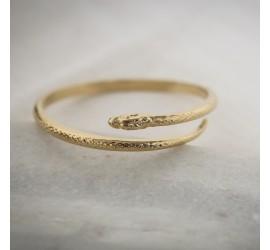 Bracelet femme serpent plaqué or RÂ
