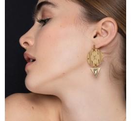 Boucles d'oreilles MONA crème