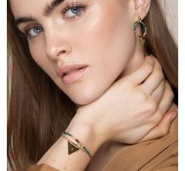 Bracelet femme double rang pierre de soleil LINA