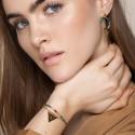 Bracelet double rang LINA pierre de soleil/malachite