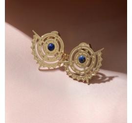 Boucles d'oreilles or BO2 NOMADE lapis lazuli