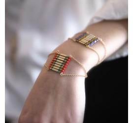 Bracelet manchette pierre semi précieuse TIHUACAN TIKA