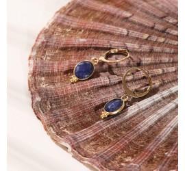 Boucles d'oreilles pierres WANDA lapis lazuli