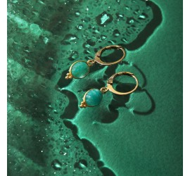 Boucles d'oreilles pierres WANDA amazonite