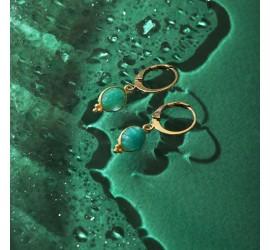Boucles d'oreilles pierres amazonite WANDA
