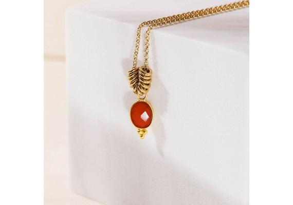 Collier pierre semi précieuses IDA cornaline