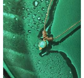 Collier pierre semi précieuses IDA amazonite