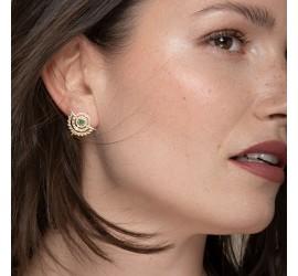 Bijoux boucles d'oreilles pierre aventurine NOMADE