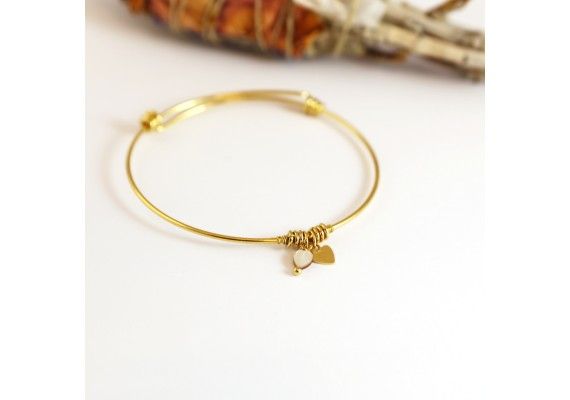 Bracelet jonc réglable coeur CINTA