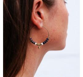 Maxi créoles lapis lazuli