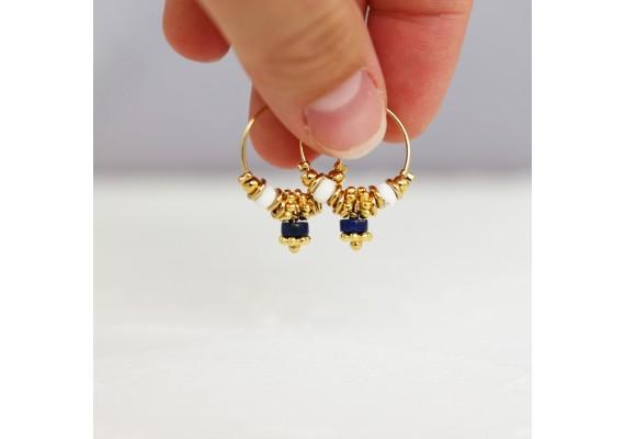 Minis créoles lapis lazuli