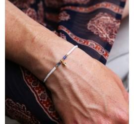 Bracelet fin ANJALI pampille indienne