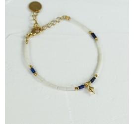 Bracelet fin lapis lazuli