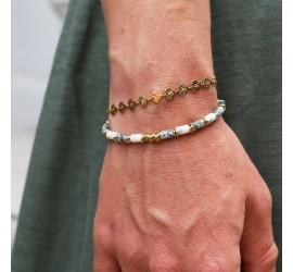 Bracelet pierre JAYA agate mousse