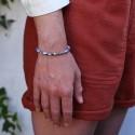 Bracelet pierre bohème sodalite