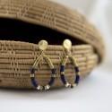 Boucles d'oreilles Lapis lazuli NOË