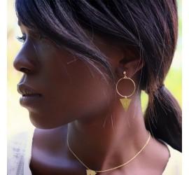 Boucles d'oreilles pendantes NUBIA