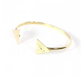 Bracelet jonc plaqué or NUBIA