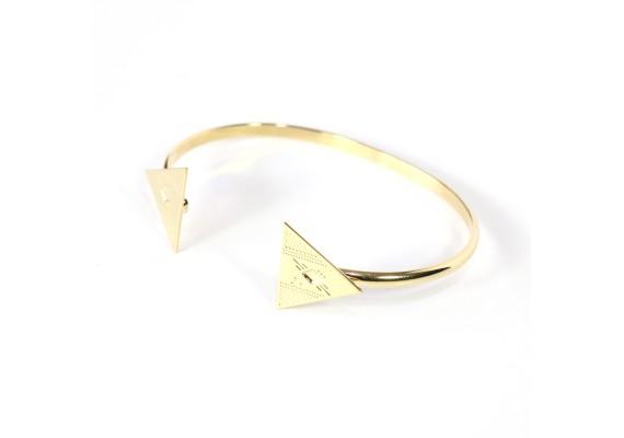 Bracelet jonc plaqué or BR1 NUBIA sans émail