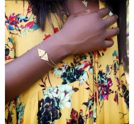 Bracelet plaqué or NUBIA