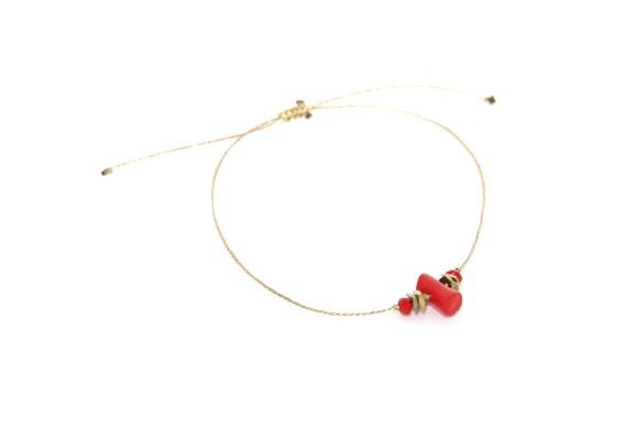 Bracelet créateur femme BR1 RECIF rouge