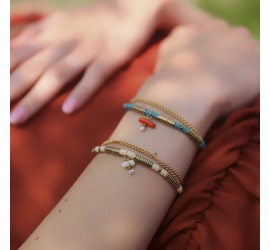Bracelet pierre semi précieuse RÉCIF