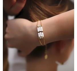 Bracelet pierres semi précieuses OMOA