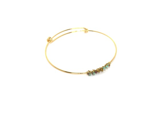 Bracelet jonc femme BR2 OMOA turquoise