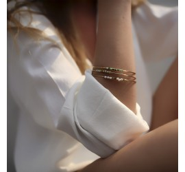 Bracelet jonc plaqué or OMOA