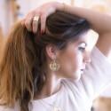 Boucles d'oreilles Abraxas Yucatan dorées à l'or fin