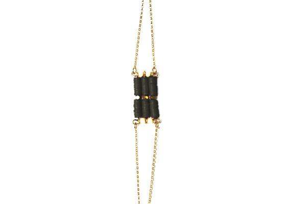 Bracelet pierres semi précieuses BR1 OMOA noir