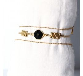 Bracelet multi rangs BR1 MALACA noir