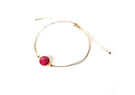 Bracelet coulissant BR2 MALACA rouge
