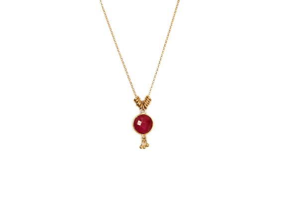 Collier court CO2 MALACA rouge