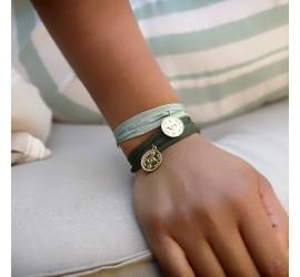 Bracelet mauvais oeil 3 tours AQUILA